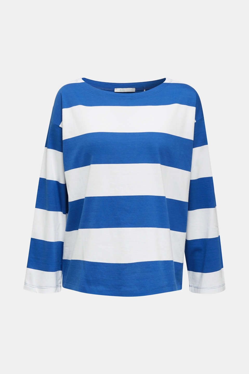 Long sleeve top with wide sleeves, 100% cotton, BRIGHT BLUE, detail image number 5