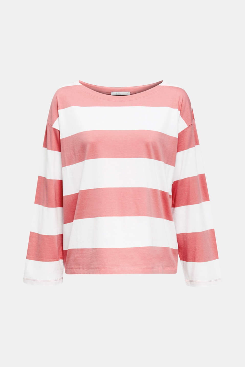Long sleeve top with wide sleeves, 100% cotton, CORAL, detail image number 5