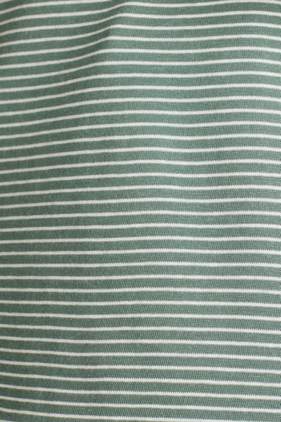 Striped top with a large V-neckline, KHAKI GREEN, detail image number 3