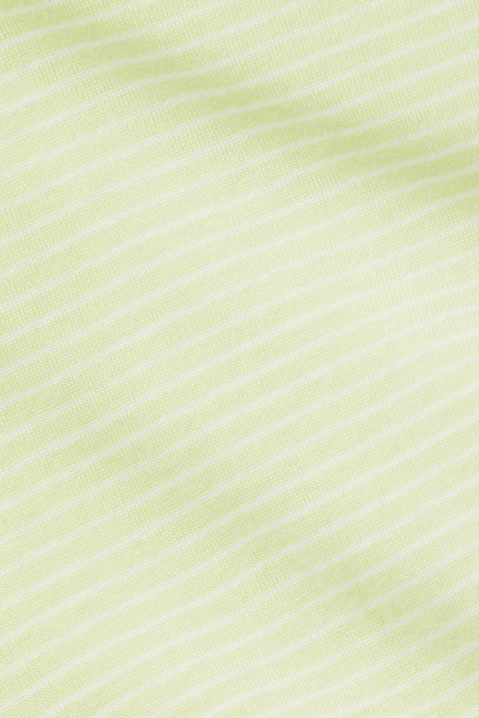 Striped top with a large V-neckline, LIME YELLOW, detail image number 3