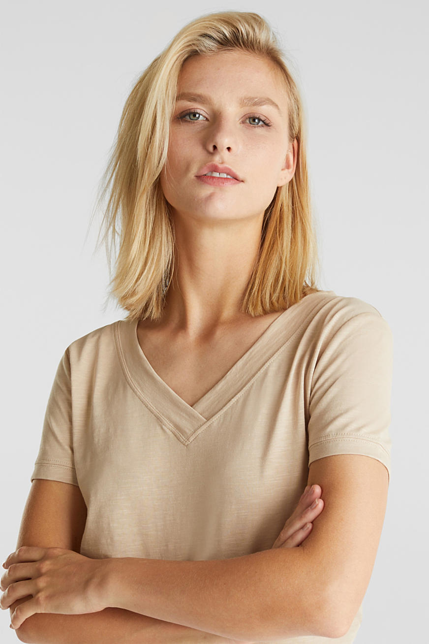 V-neck top, 100% cotton