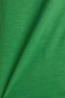 V-neck top, 100% cotton, GREEN 4, detail