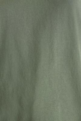 V-neck top, 100% cotton, KHAKI GREEN 4, detail