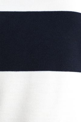 Thick jersey block stripe T-shirt, NAVY, detail