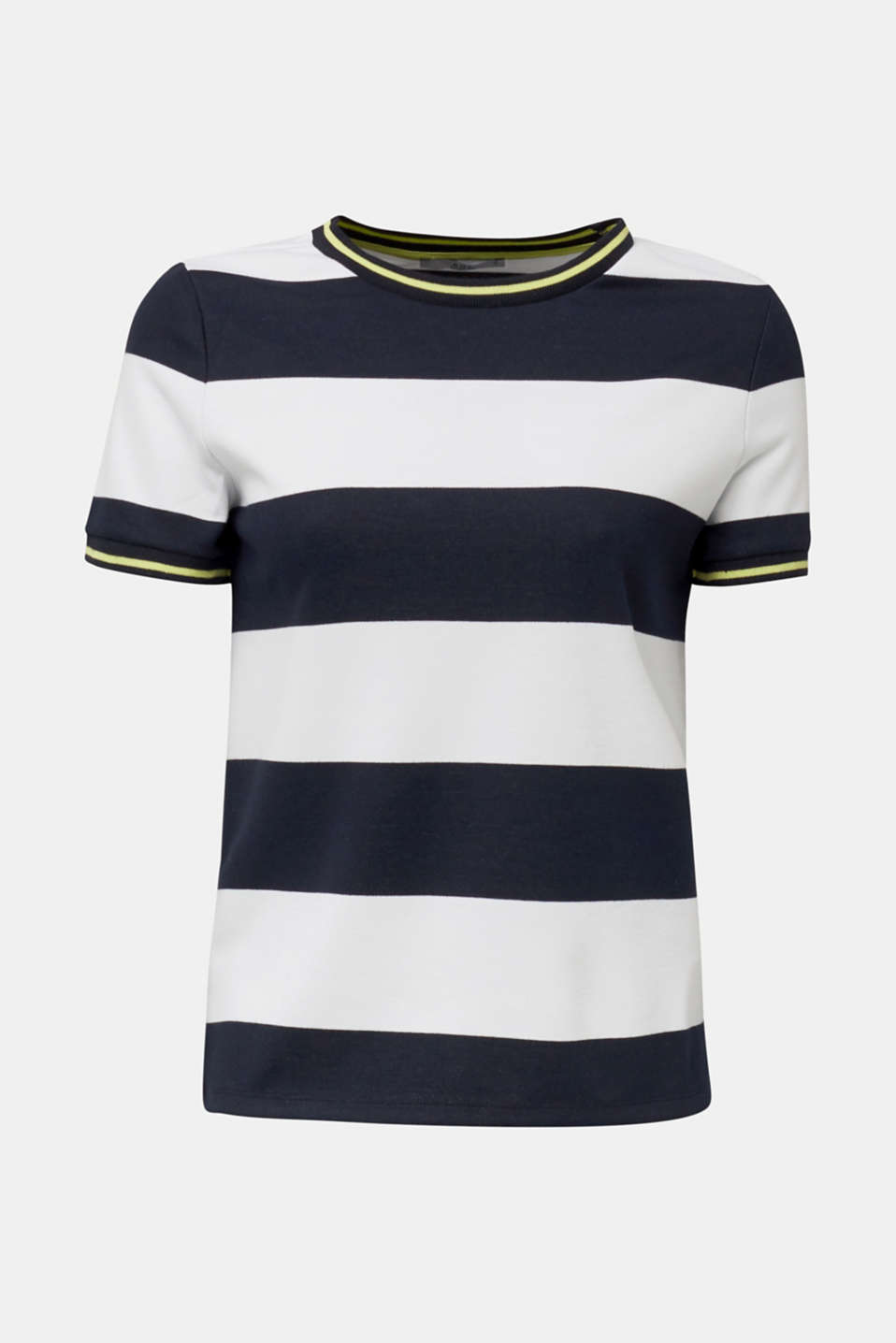 Compact block stripe top, NAVY, detail image number 5