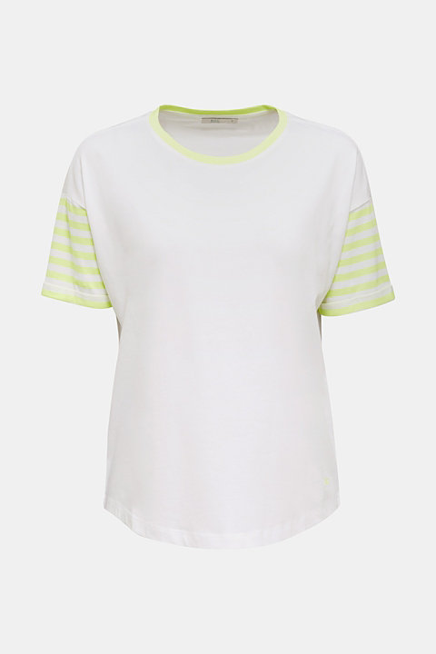 Top with neon stripes, 100% cotton