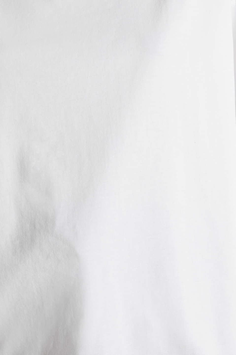 Long sleeve top with wide sleeves, 100% cotton, WHITE, detail image number 4