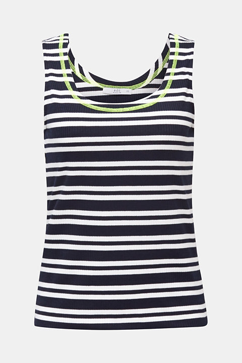 Stretch top with stripes