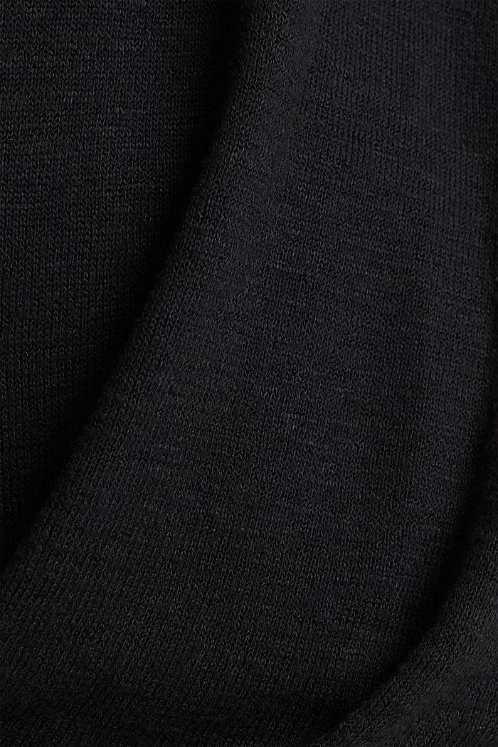 Flagermus-shirt med draperet effekt, BLACK, detail image number 4