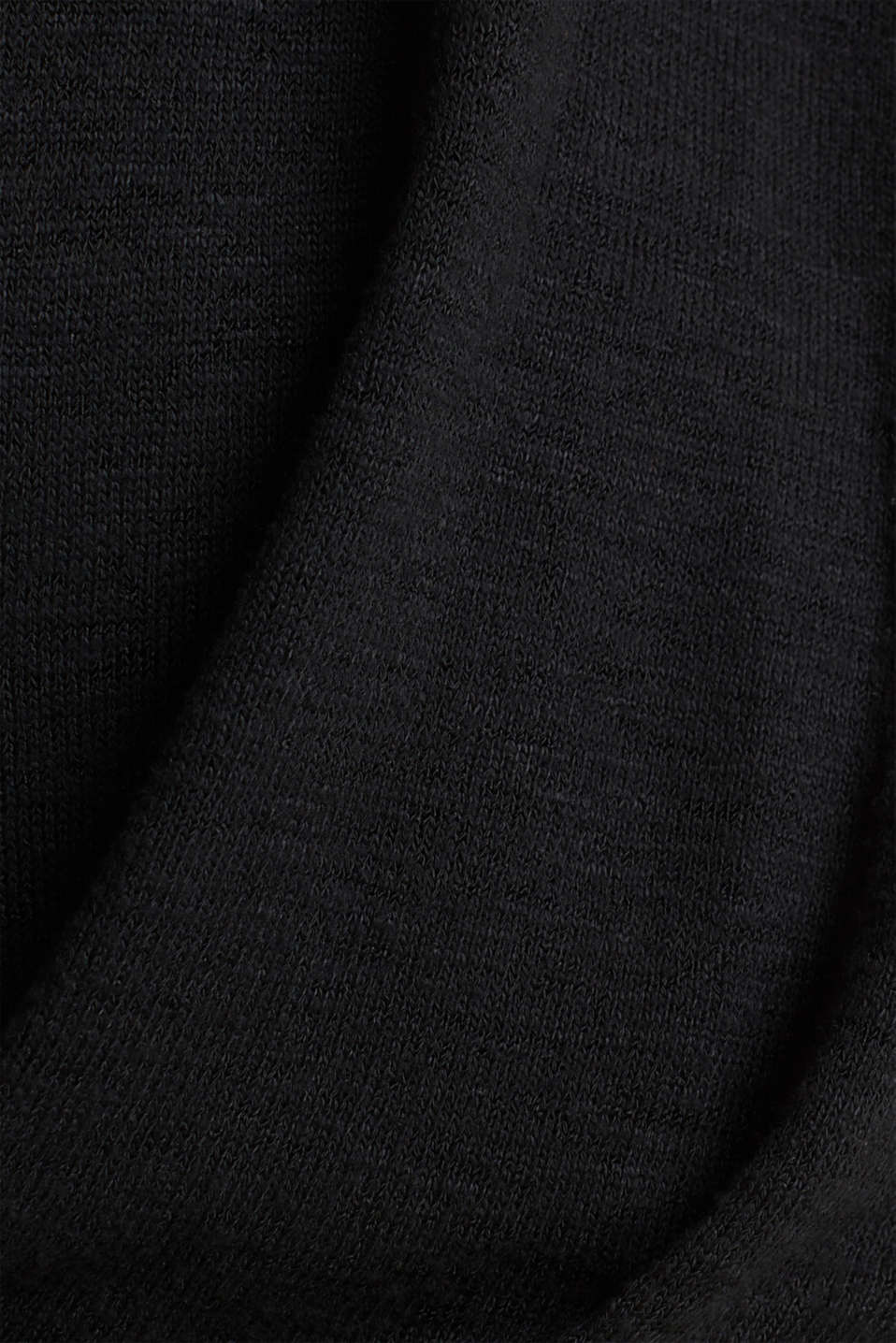 Batwing top with a draped effect, BLACK, detail image number 4