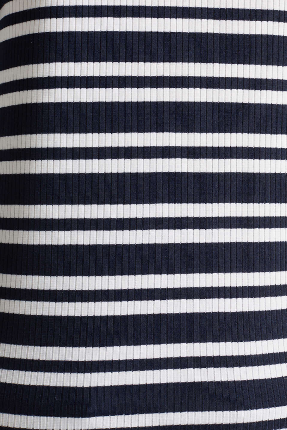Ribbed long sleeve top with a button placket, NAVY 2, detail image number 4