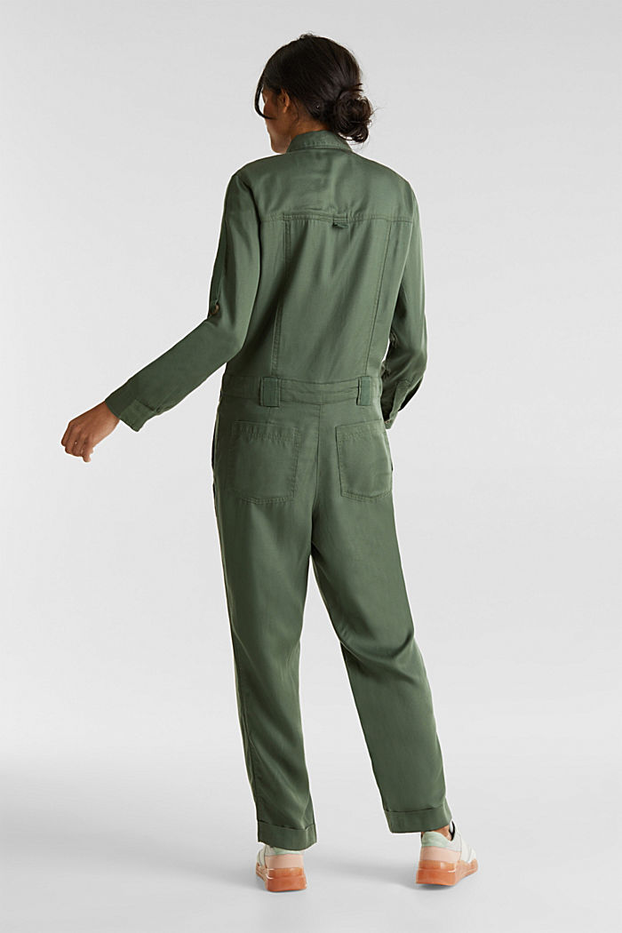 Utility-style boiler suit, KHAKI GREEN, detail image number 3