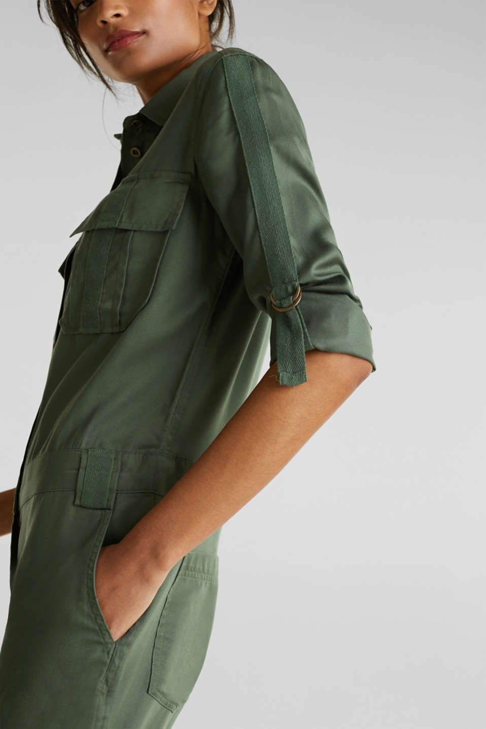Utility-style boiler suit, KHAKI GREEN, detail image number 2