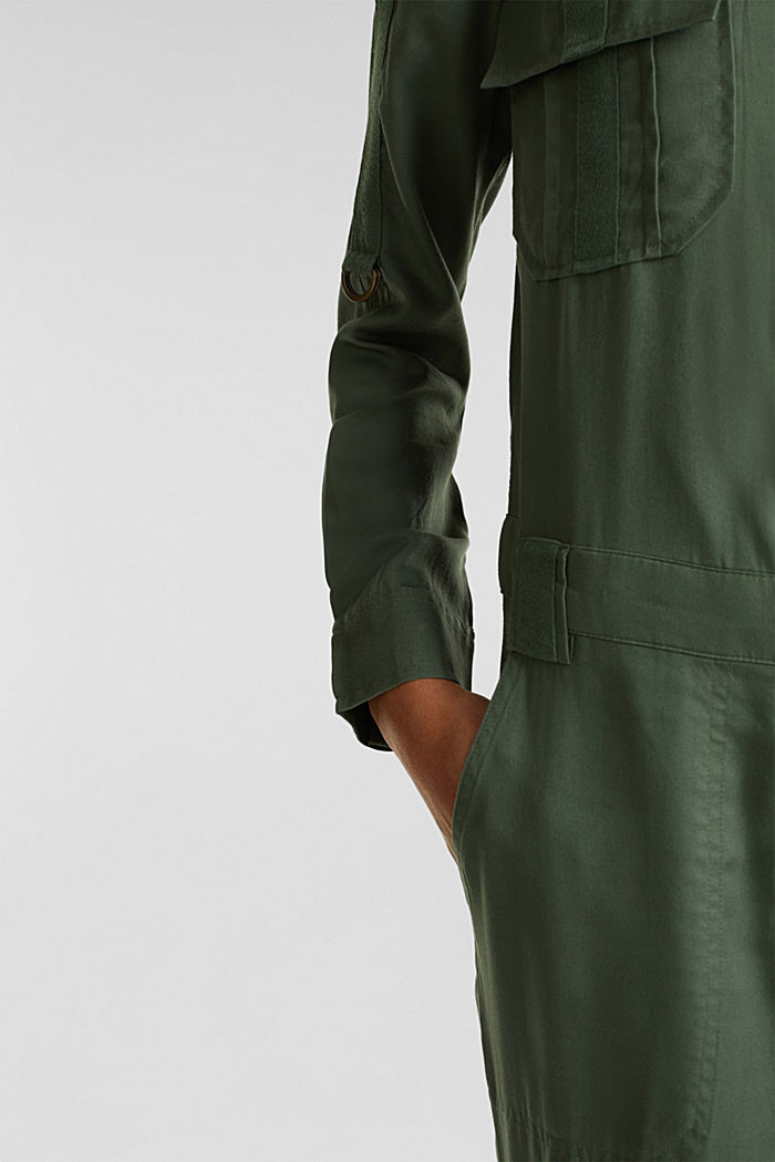 Utility-style boiler suit, KHAKI GREEN, detail image number 5