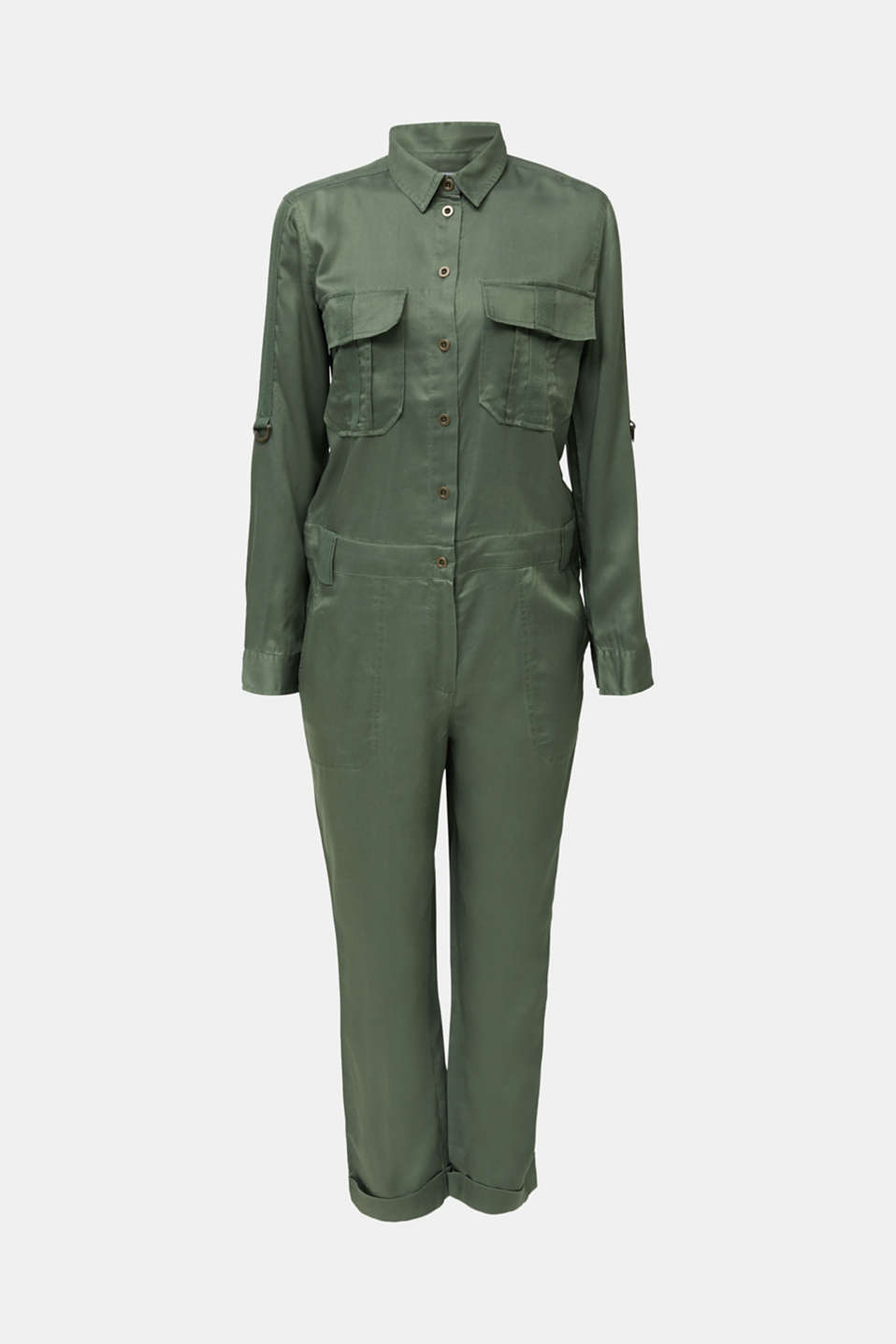 Utility-style boiler suit, KHAKI GREEN, detail image number 6