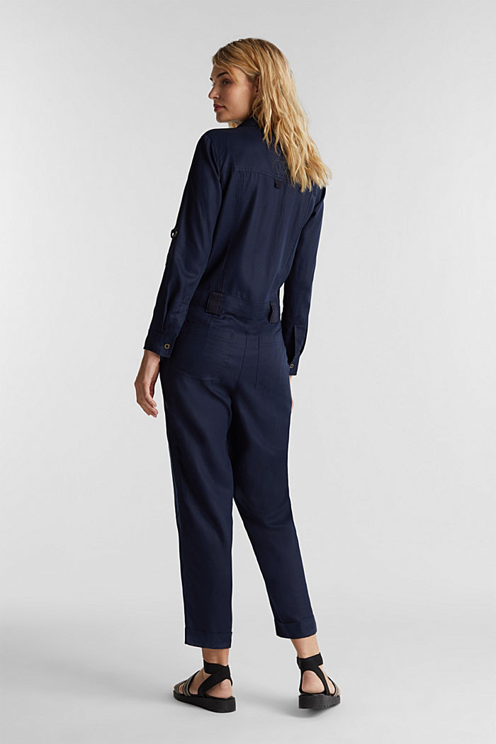 Utility-style boiler suit, NAVY, detail image number 0