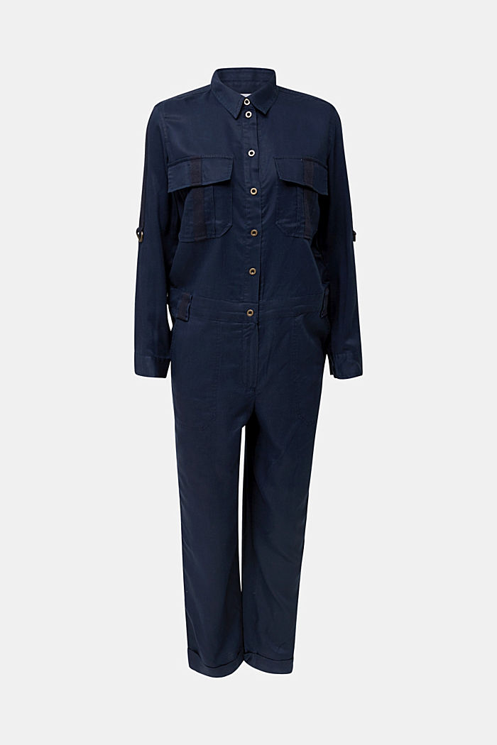 Utility-style boiler suit, NAVY, detail image number 2