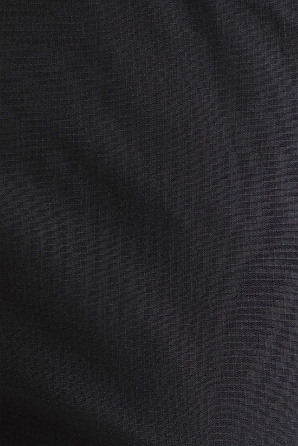 Stretch cotton cargo trousers, BLACK, detail image number 4