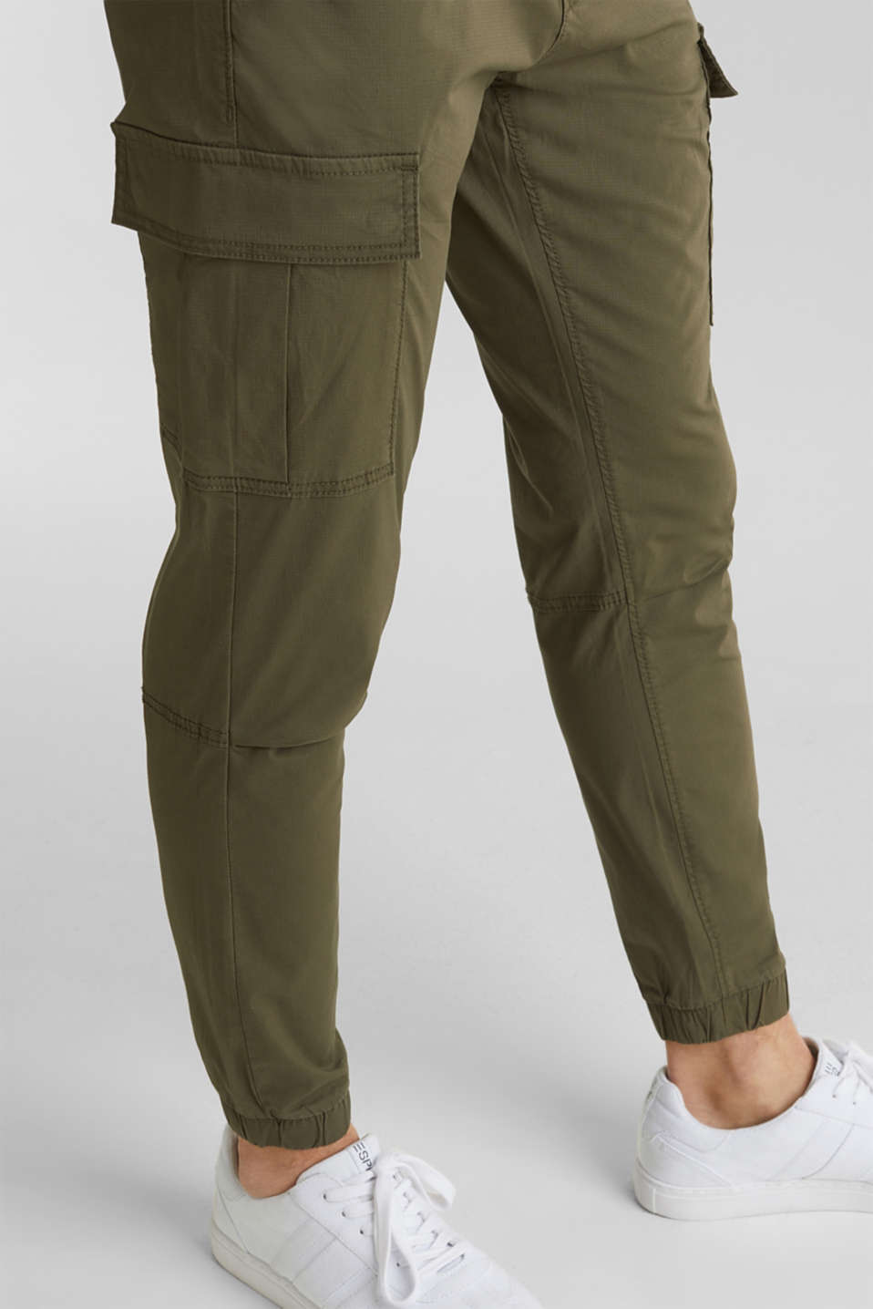 Cargo trousers with stretch, KHAKI GREEN, detail image number 5