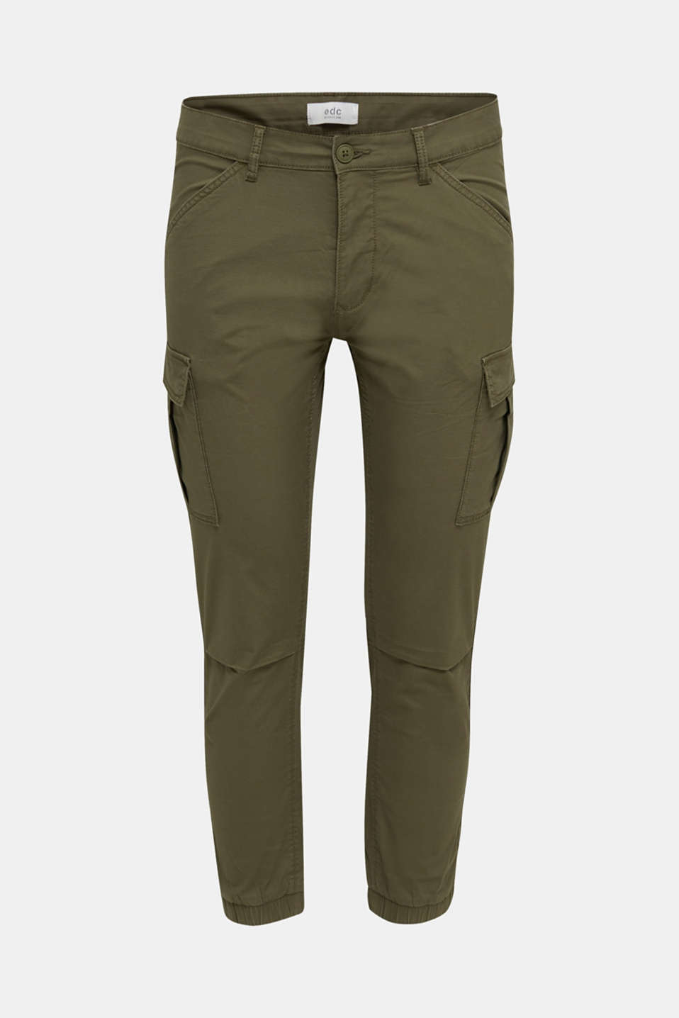 Cargo trousers with stretch, KHAKI GREEN, detail image number 7