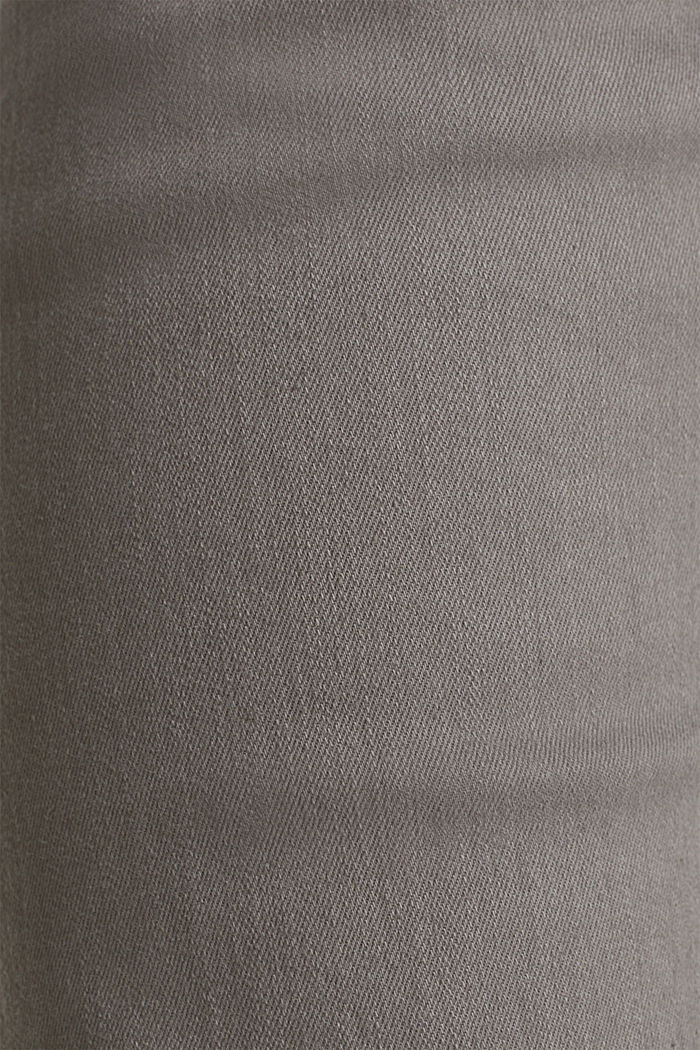 Stretch denim shorts with a pigment-dyed finish, DARK GREY, detail image number 3