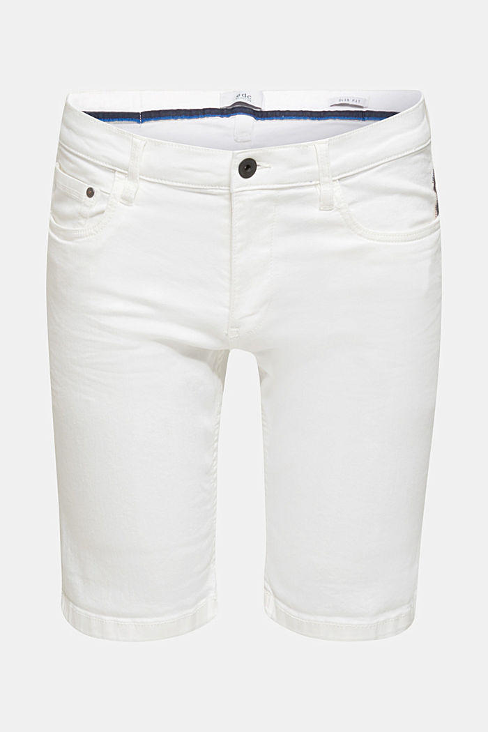 Stretch-Jeansshorts mit Pigmentfärbung, OFF WHITE, detail image number 6