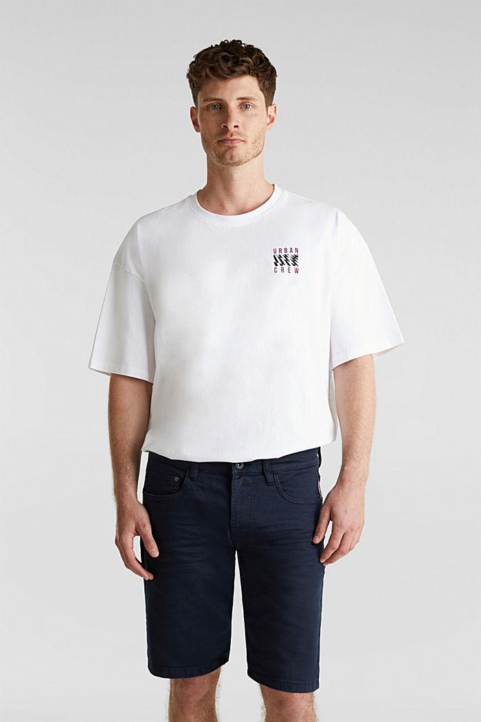 Stretch-Jeansshorts mit Pigmentfärbung