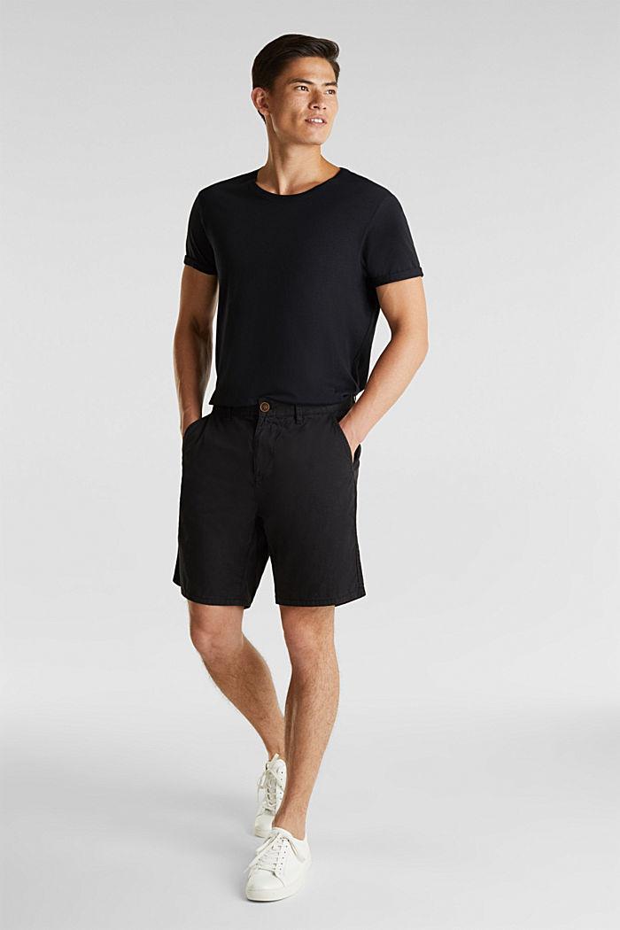 Bermuda aus 100% Baumwolle, BLACK, detail image number 1