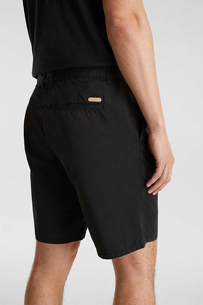Bermuda aus 100% Baumwolle, BLACK, detail image number 2