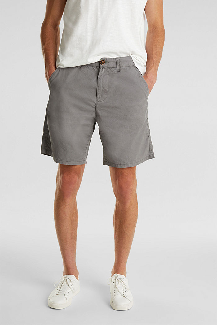 Bermudas in 100% cotton, DARK GREY, detail image number 0