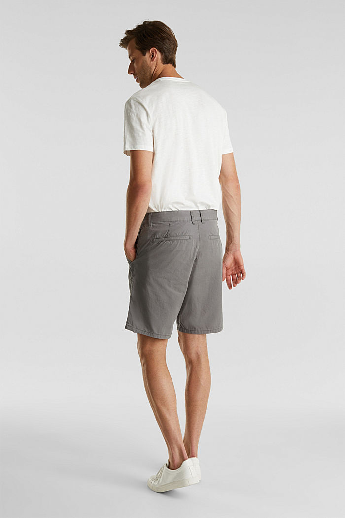 Bermudas in 100% cotton, DARK GREY, detail image number 3