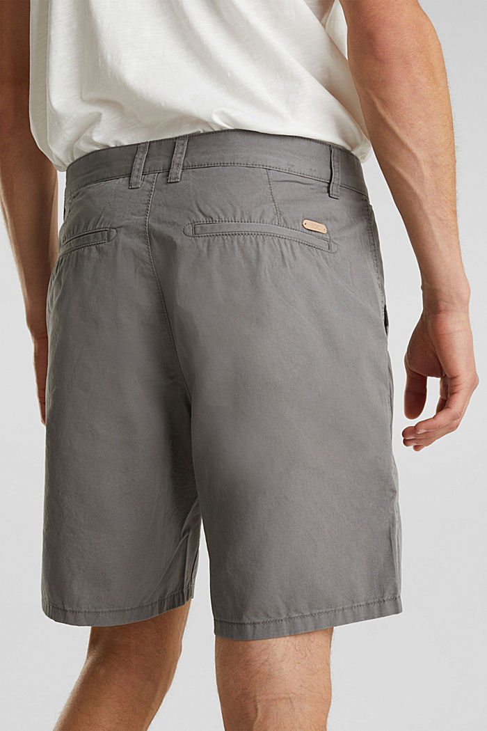 Bermudas in 100% cotton, DARK GREY, detail image number 2