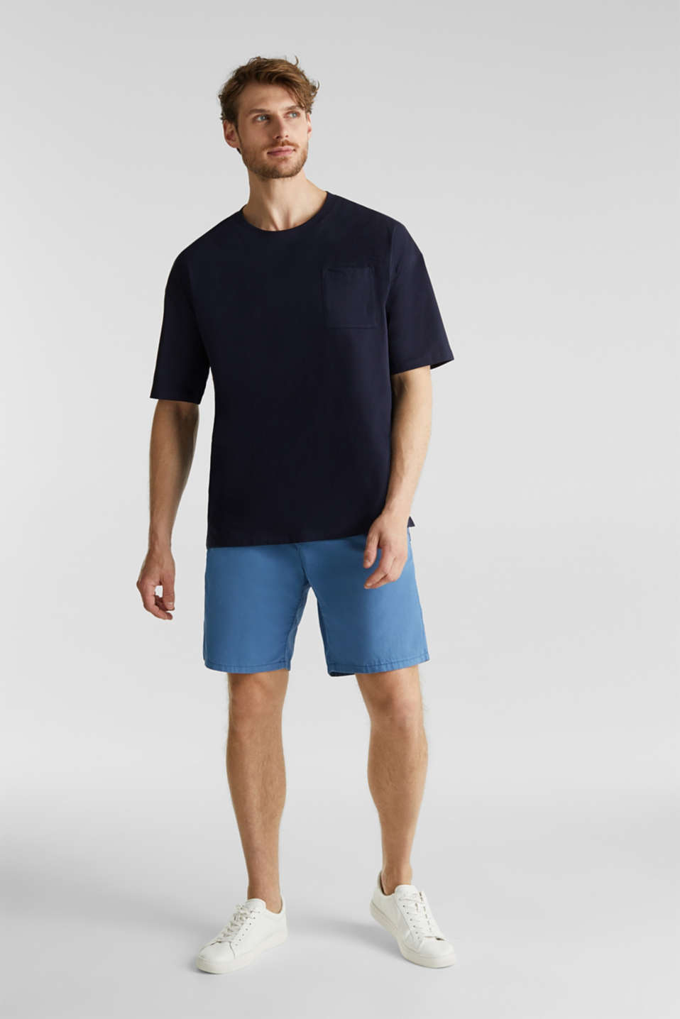 Bermudas in 100% cotton, BRIGHT BLUE, detail image number 1