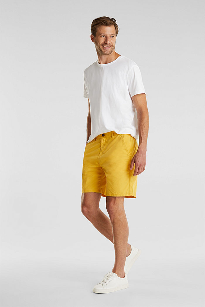 Bermudas in 100% cotton, LIME YELLOW, detail image number 1
