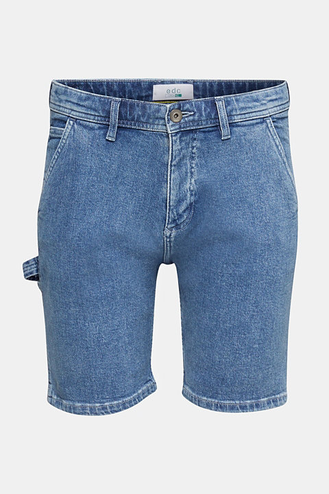 Denim shorts in a utility look