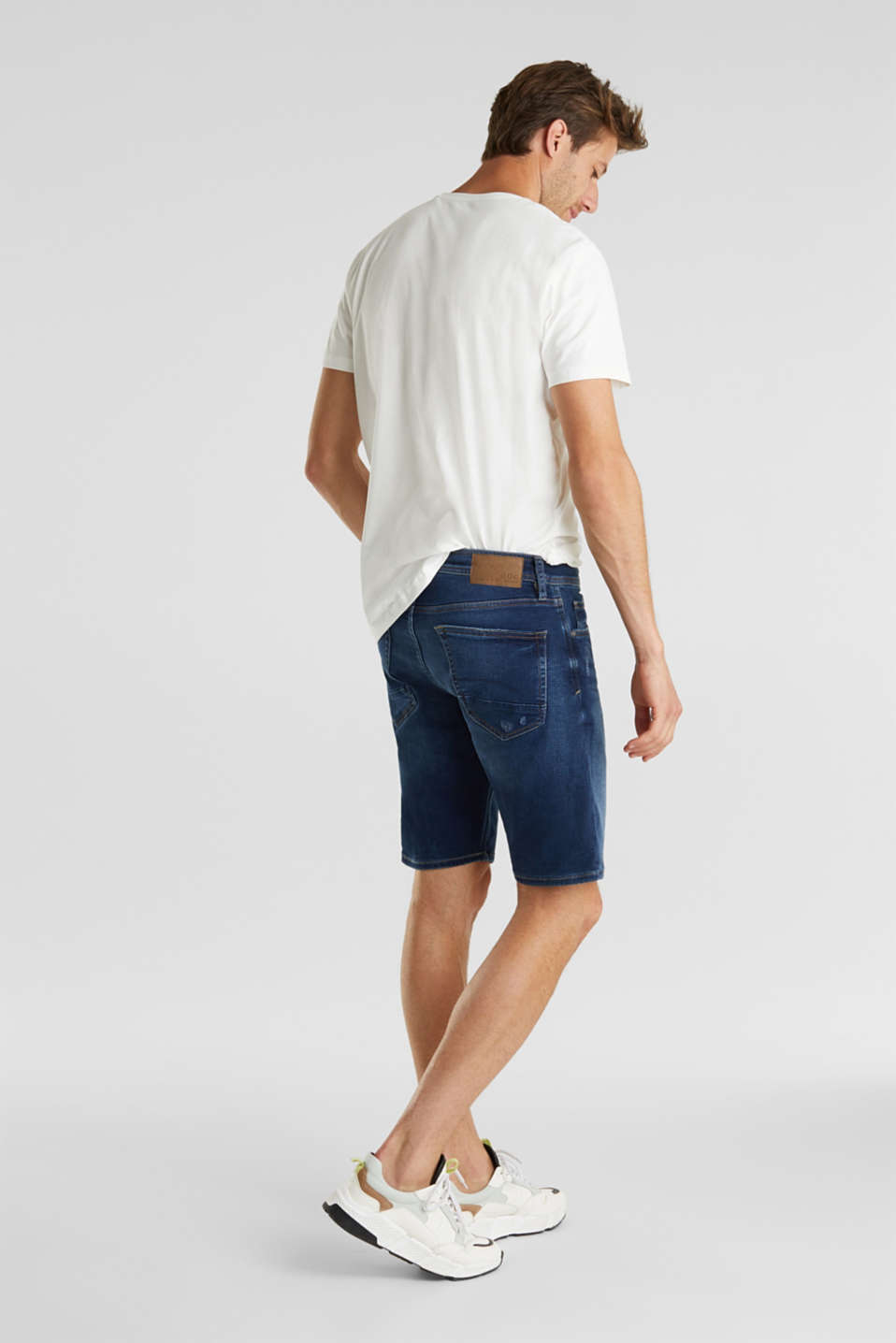 Super stretch Bermuda shorts, BLUE DARK WASH, detail image number 3
