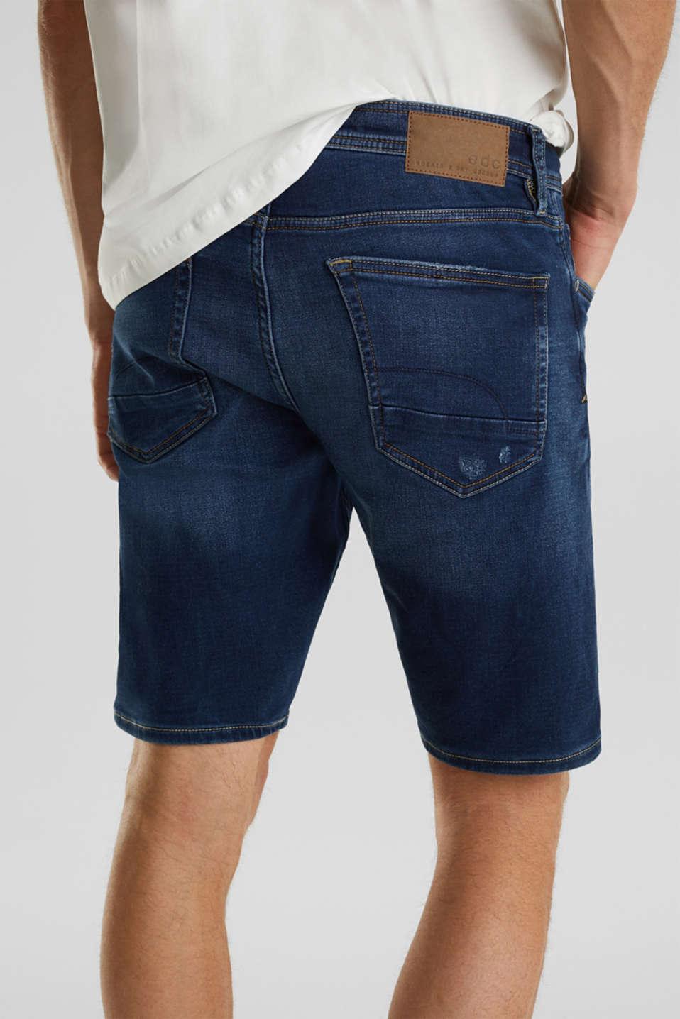 Super stretch Bermuda shorts, BLUE DARK WASH, detail image number 2