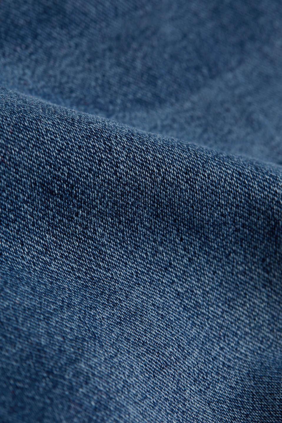 Super stretch Bermuda shorts, BLUE DARK WASH, detail image number 4