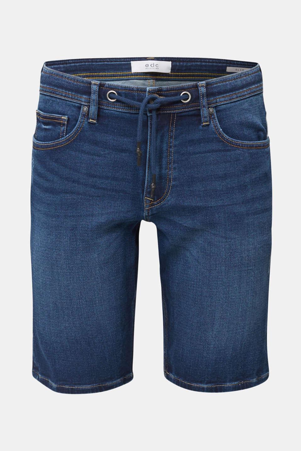 Super stretch Bermuda shorts, BLUE DARK WASH, detail image number 5