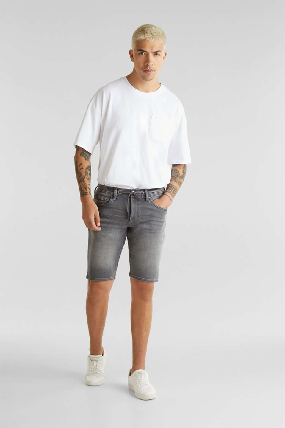 edc - Short en matière jogging super stretch d´aspect jean