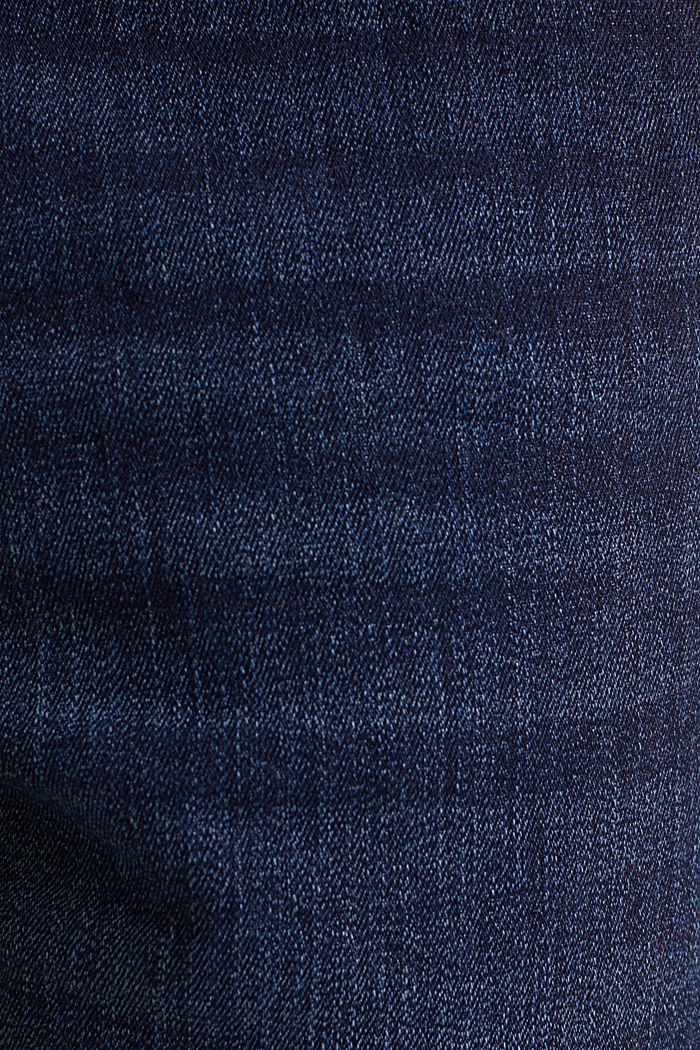 Super stretch denim shorts, BLUE DARK WASHED, detail image number 4