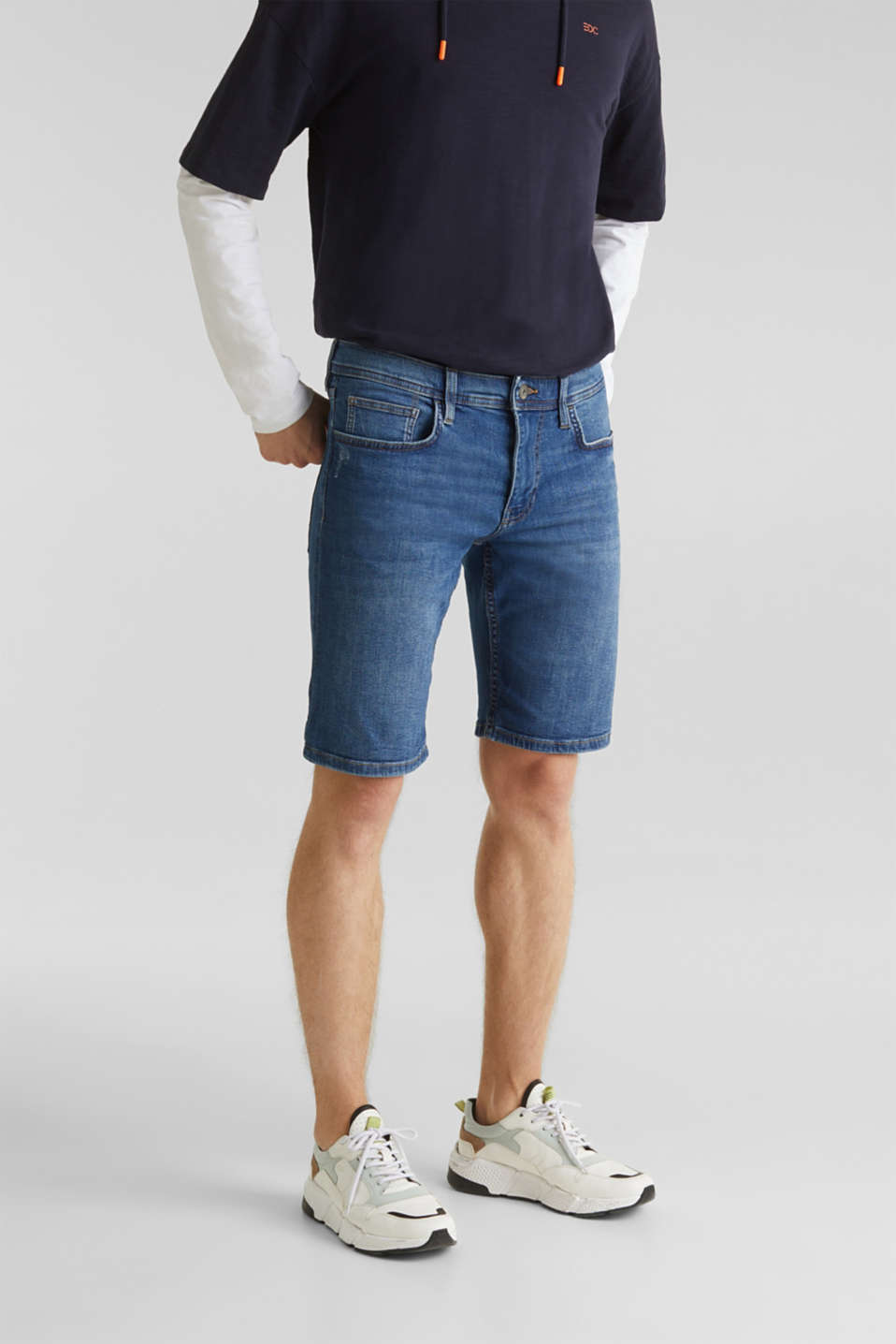 edc - Superstretchiga jeansshorts