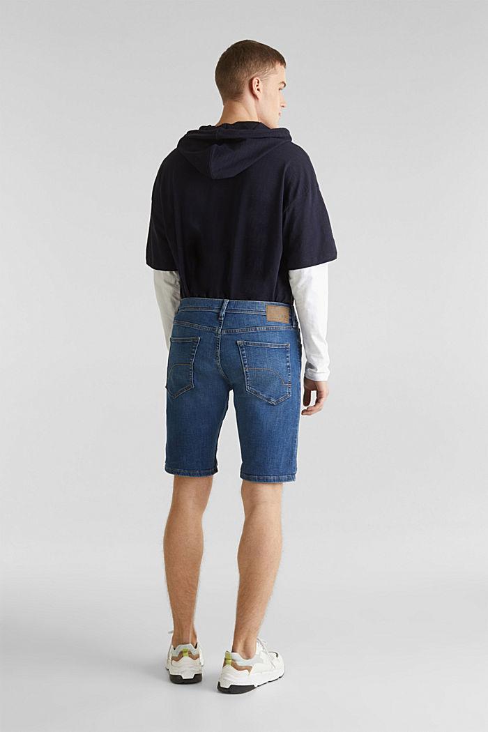 Superstretch-Denim-Shorts, BLUE MEDIUM WASHED, detail image number 3