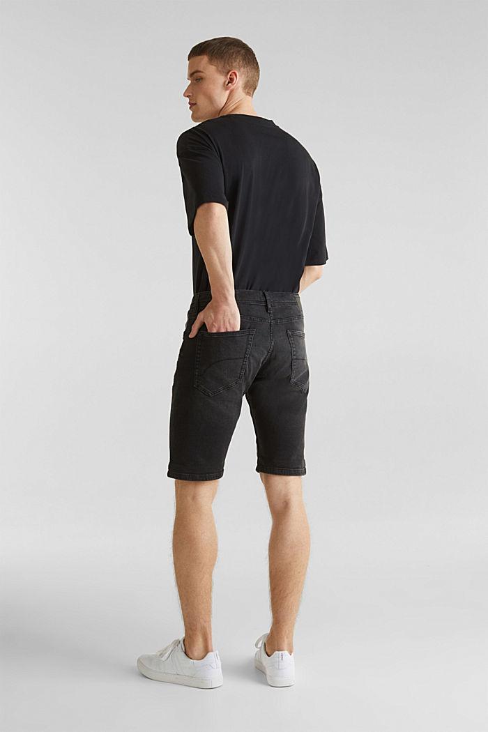 Superstretch-Denim-Shorts, BLACK DARK WASHED, detail image number 3