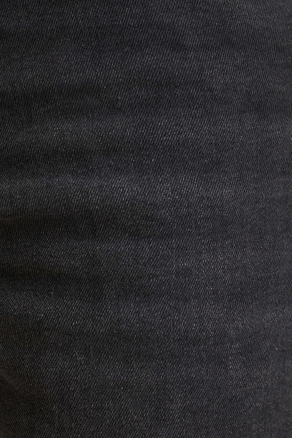Super stretch denim shorts, BLACK DARK WASH, detail image number 4