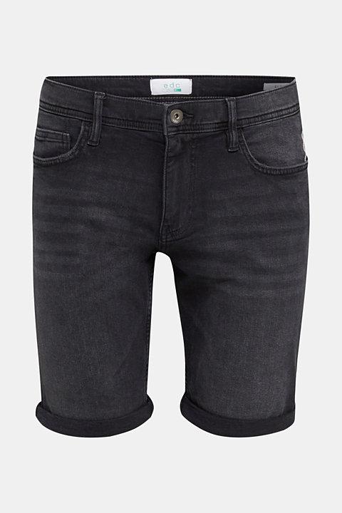Super stretch denim shorts