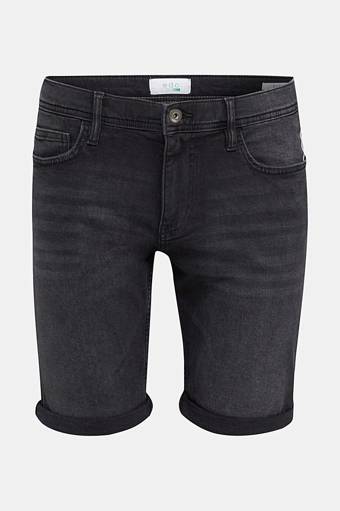 Superstretch-Denim-Shorts, BLACK DARK WASHED, detail image number 7
