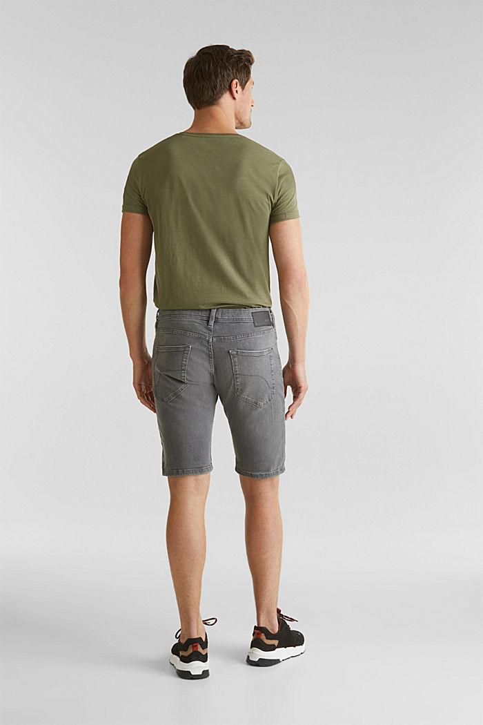 Superstretch-Denim-Shorts, GREY MEDIUM WASHED, detail image number 3