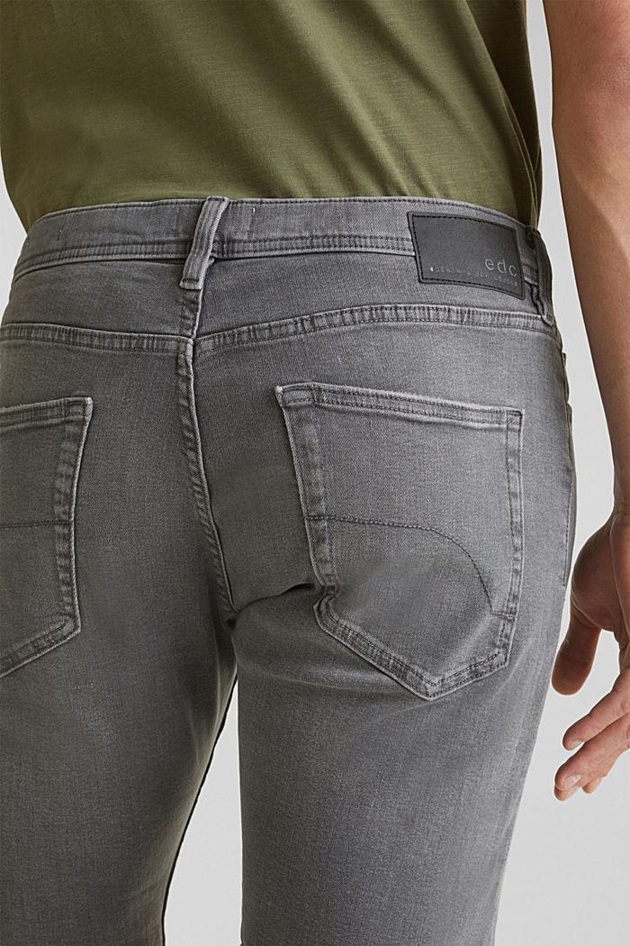 Superstretch-Denim-Shorts, GREY MEDIUM WASHED, detail image number 5