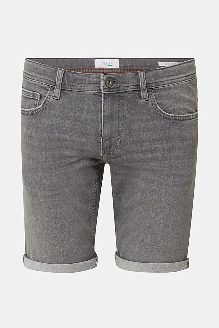 Superstretch-Denim-Shorts, GREY MEDIUM WASHED, overview